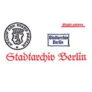Historische Stempel des Stadtarchivs Berlin
