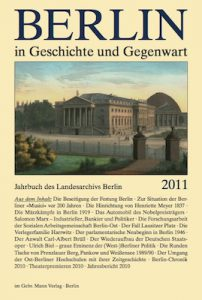 Berlin in Geschichte und Gegenwart, Jahrbuch des Landesarchivs 1982