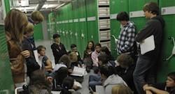 Schüler bei der Recherche, Lab Foto: Thomas Platow