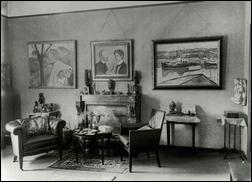 Dienstwohnung Curt Glaser, Direktor der Kunstbibliothek Berlin, ca. 1930 (Landesarchiv Berlin, F. Rep. 290-05-01 Sammlung Marta Huth, Nr. 70)