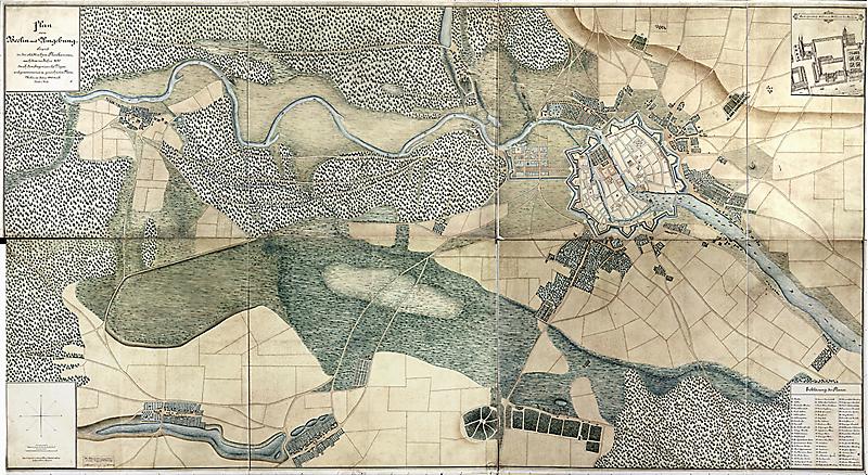 Plan von Berlin mit Umgebung Städt. Plankammer Berlin nach dem Plan von La Vigne 1685 (1890) F Rep. 270, A 2003