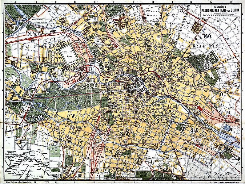 Kiessling's Neuer Kleiner Plan von Berlin Verlag A. Kiessling, Berlin; Lithographie und Druck L. Kraatz, Berlin, ca. 1886 F Rep. 270, A 8060