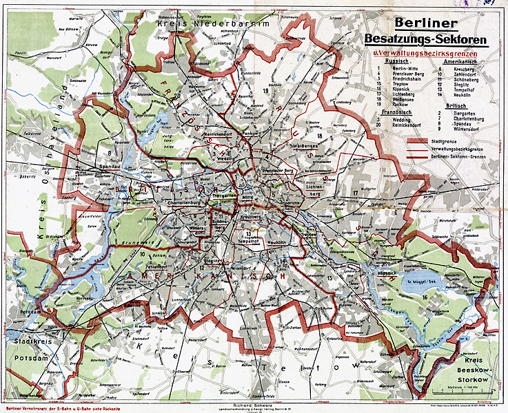 West Berlin Karte.Kartenabteilung Landesarchiv Berlin