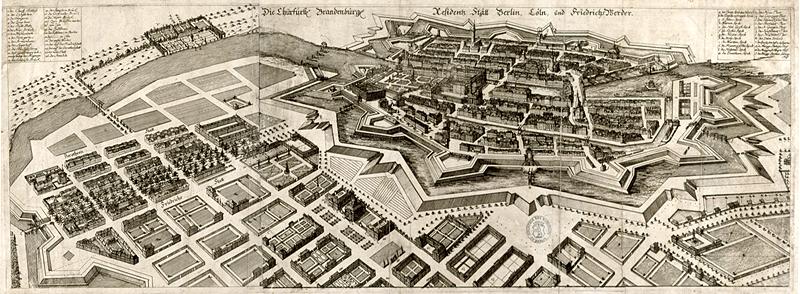 1699 Zeichnung und Stich von J. B. Broebes Allg. Kartensammlung, A 31