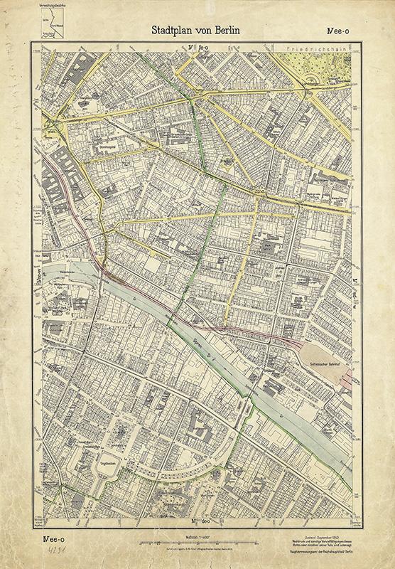 Stadtplan von Berlin [1 : 4000], Bl. 4231; Hauptvermessungsamt der Stadt, 1942 F Rep. 270, A 2000