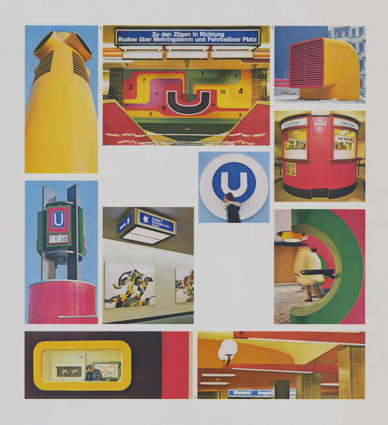 [U-Bahnhof Fehrbelliner Platz, Fotomontage], R. G. Rümmler, 1967 E Rep. 300-70 (Karten), Nr. 4 (12)