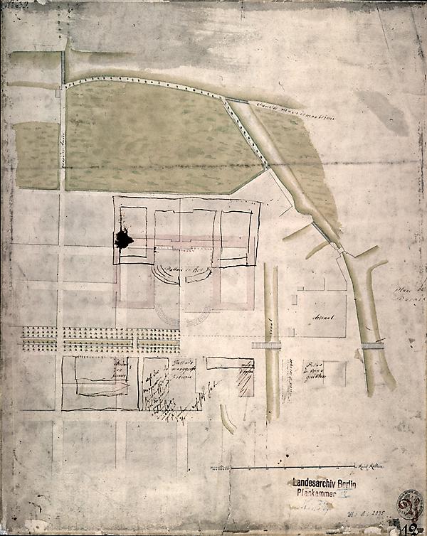[Forum Fridericanium] , ca. 1740, Zeichnung von G. W. von, Knobelsdorff - Architekt (?)