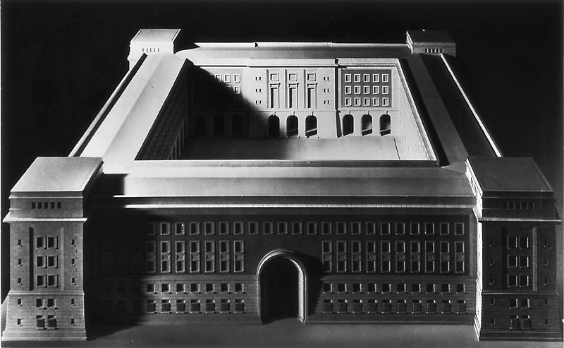 Wehrtechnische Fakultät. [Modell des Hauptgebäudes], 1938 A Pr.Br.Rep. 107 (Karten), Nr. 143