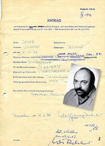 Antrag des Schauspielers Wolfgang Dehler, 1983