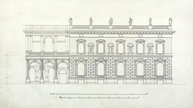 [Wohnhaus von A. Borsig in der Voßstr. 1] vor 1875, Zeichnung von R. Lucae - Architekt (?), A Rep. 226 (Karten) Nr. 125