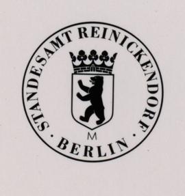 Standesamt Berlin-Reinickendorf von 1954, Quelle: Landesarchiv Berlin, F Rep. 290 Nr. 0036838, Fotograf: W. Heymsodt