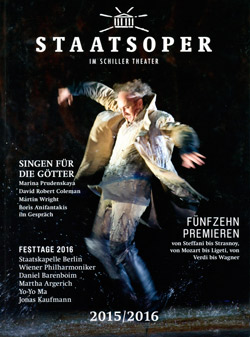 Heft zur Saison 2015/2016 der Staatsoper Berlin, 2015, D Rep. 871  Nr. 59