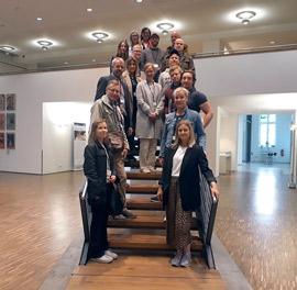 Eine Delegation norwegischer Archivarinnen und Archivaren zu Gast im Landesarchiv Berlin.