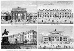 Souvenirblatt von Berlin, um 1835, Quelle: Landesarchiv Berlin, Rep. 250-01 Nr. B-241